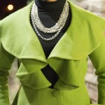 Green Wool Blend Coat