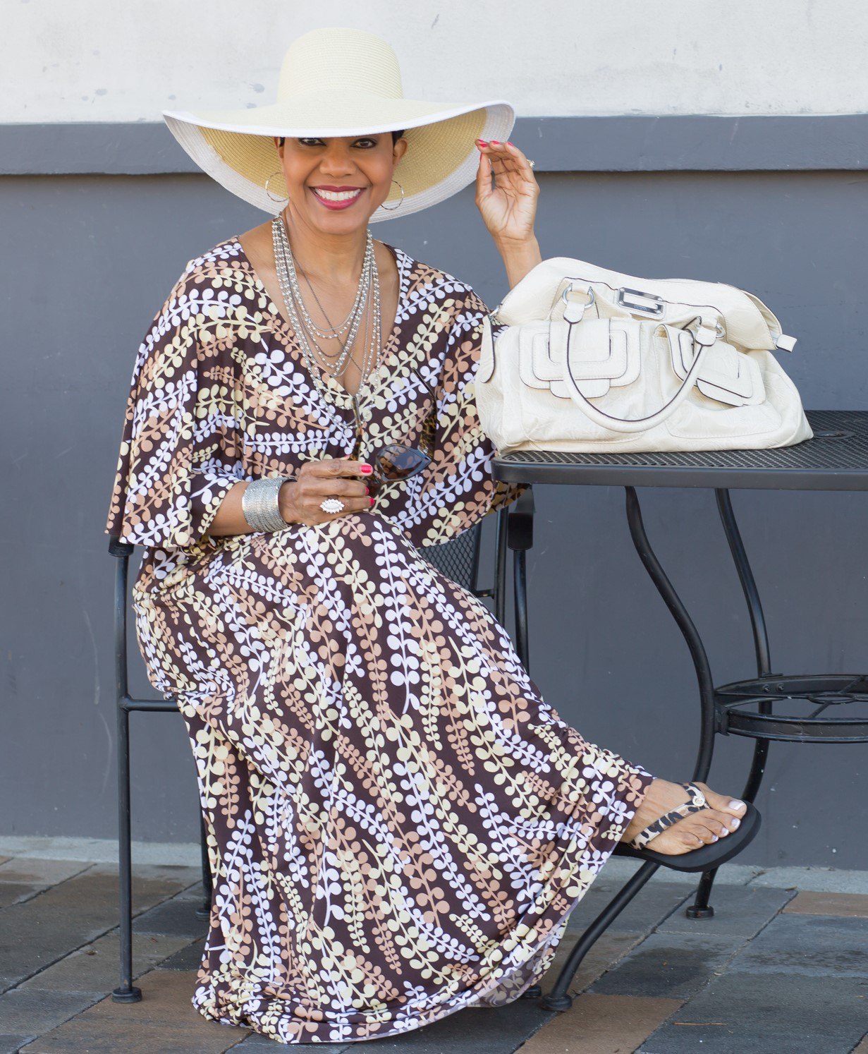 McCall's 7566 - Cape-Style Maxi Dress