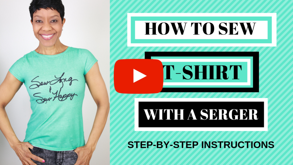 10fc56f0ddb7 We've reached the end of the Vibrant Serger Series and today, on my YouTube  channel, I'm showing you how to sew a t-shirt with a serger to close it out.